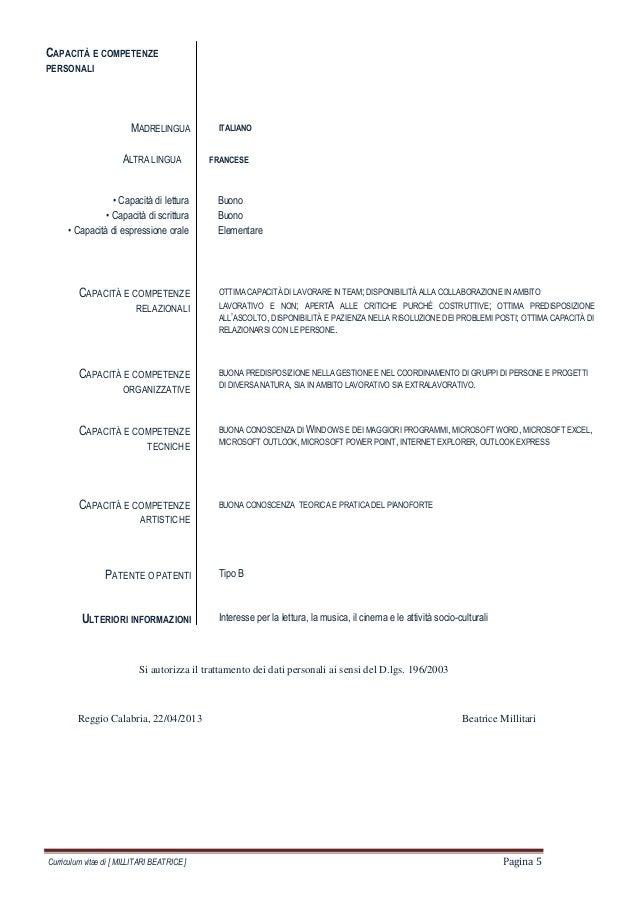 curriculum vitae formato europeo logopedista