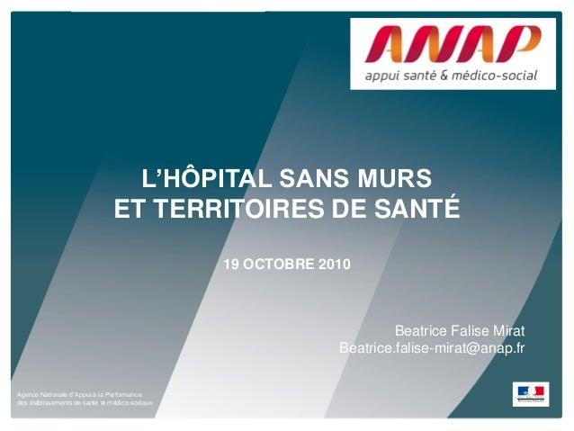 Agence Nationale d'Appui à la Performance des établissements de santé et médico-sociaux L'HÔPITAL SANS MURS ET TERRITOIRES...
