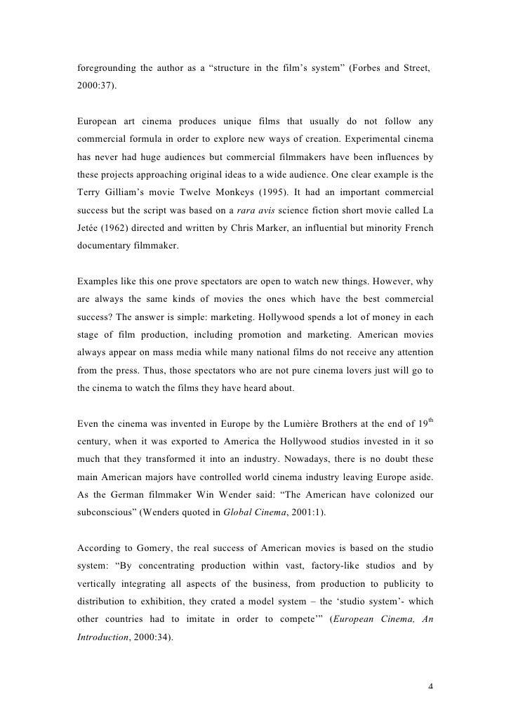 Film Industry Essays (Examples)