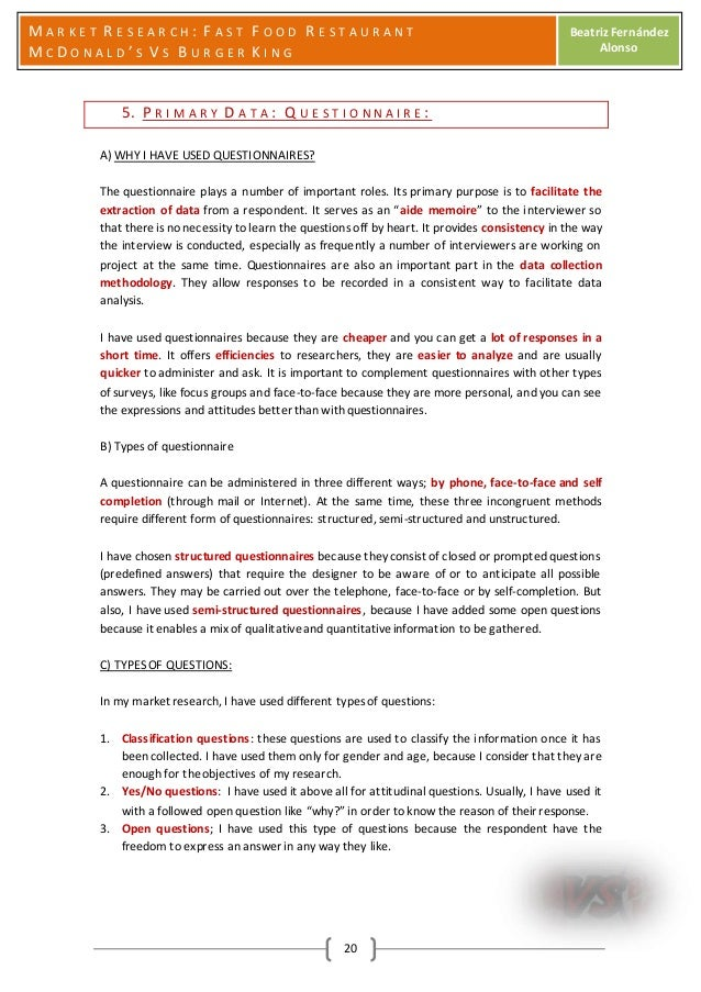 Market Research - Fast Food Restaurants