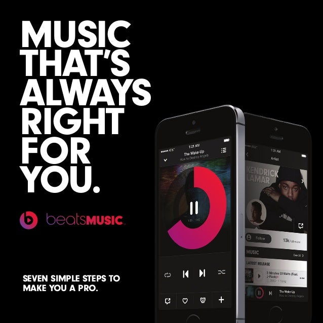 MUSIC THAT'S ALWAYS RIGHT FOR YOU. SEVEN SIMPLE STEPS TO MAKE YOU A PRO.