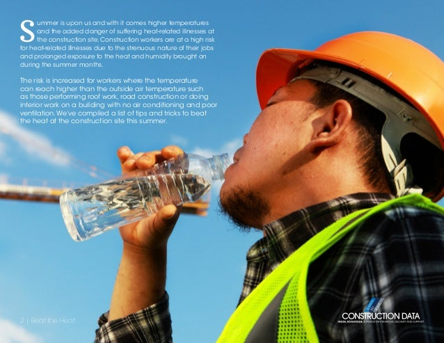 Beat The Heat Tips For Staying Cool On The Construction Site