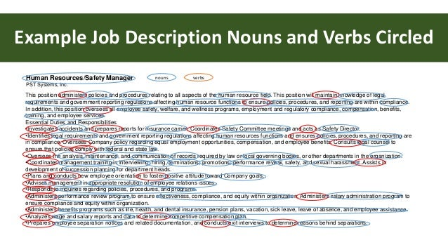 resume keyword nouns