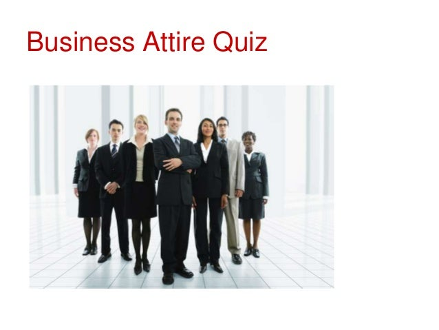 Business Etiquette Attire Quiz