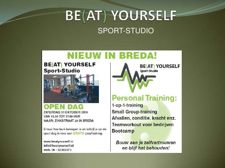BE(AT) YOURSELF<br />SPORT-STUDIO<br />