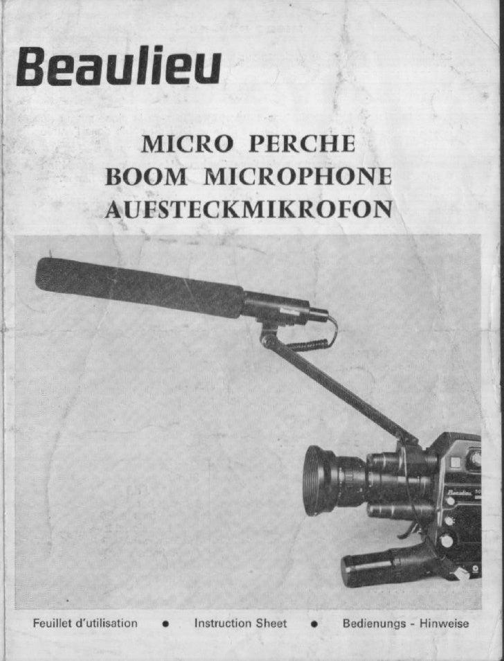 Beaulieu boom microphone user manual_french english german