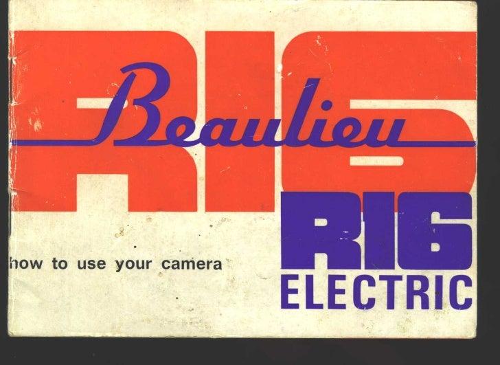 Beaulieu r16 electric user manual_english