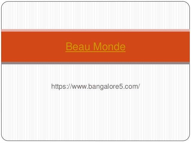 https://www.bangalore5.com/ Beau Monde