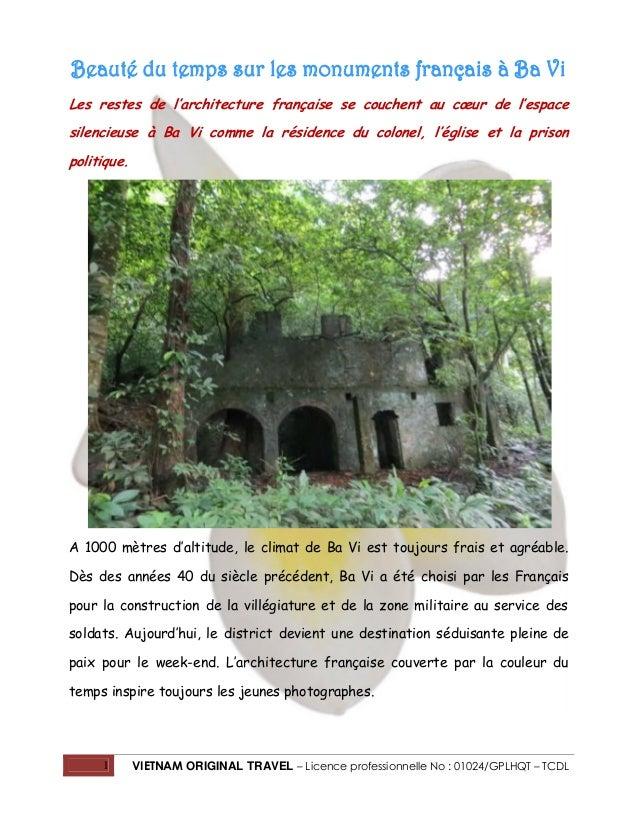 Beauté du temps sur les monuments français à Ba Vi Les restes de l'architecture française se couchent au cœur de l'espace ...