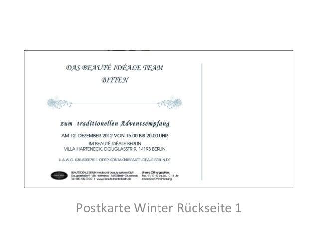 Postkarte Winter Rückseite 1