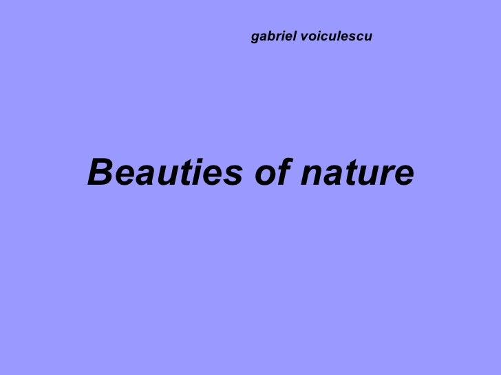 Beauties of nature gabriel voiculescu