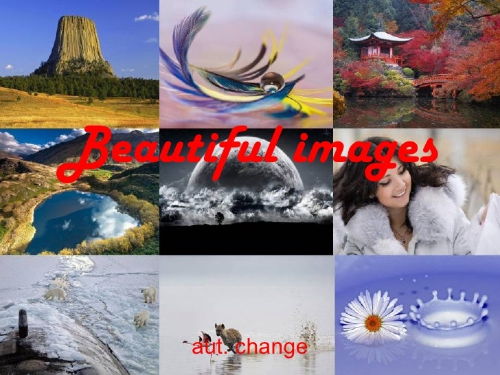 Beautiful images     aut. change
