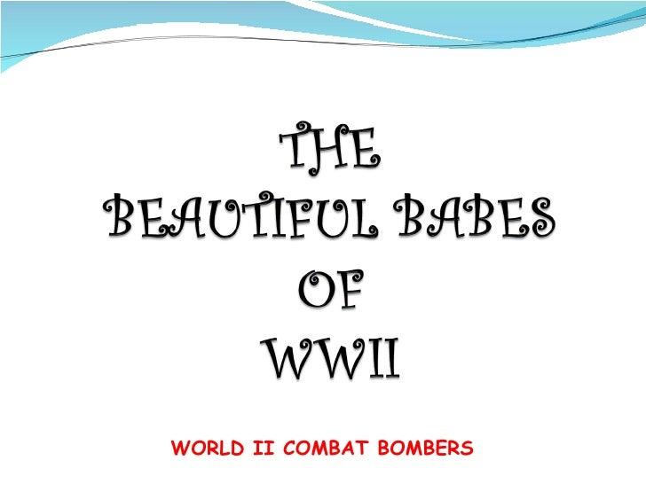 WORLD II COMBAT BOMBERS