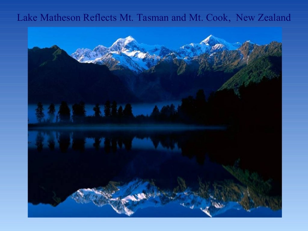 Lake Matheson Reflects Mt Tasman