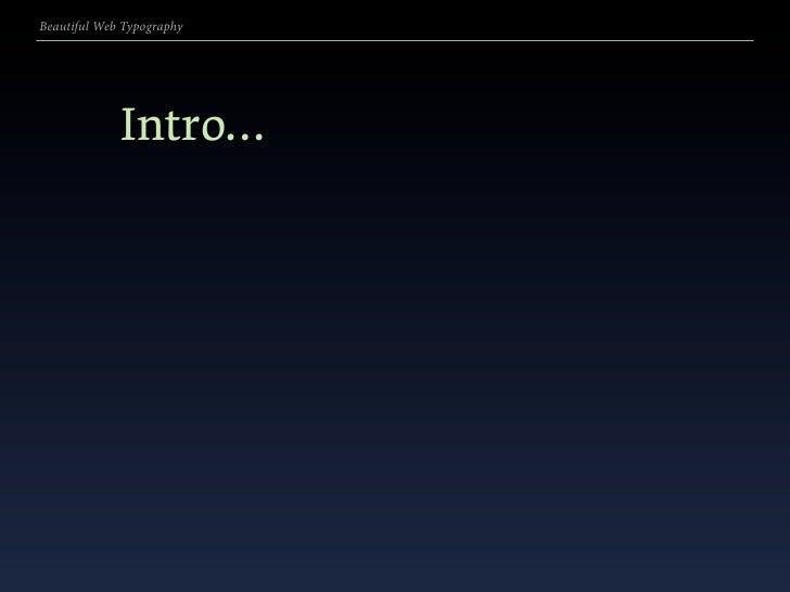 Beautiful Web Typography v5.3 Edge of the Web presentation Slide 2