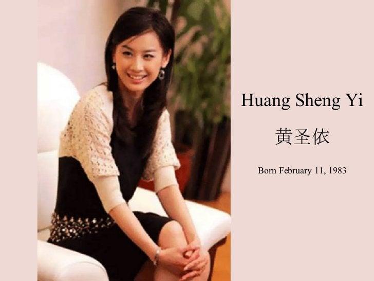 Huang Sheng Yi 黄圣依 Born February 11, 1983