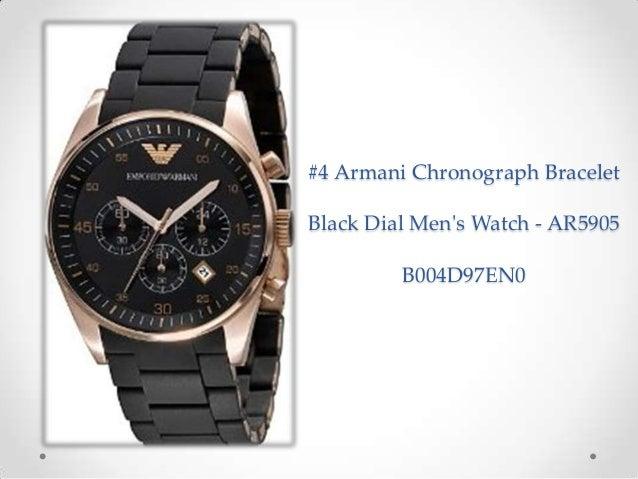 beautiful best armani watches for mens casual black watches 4 armani chronograph bracelet black dial men s watch ar5905 b004d97en0 16