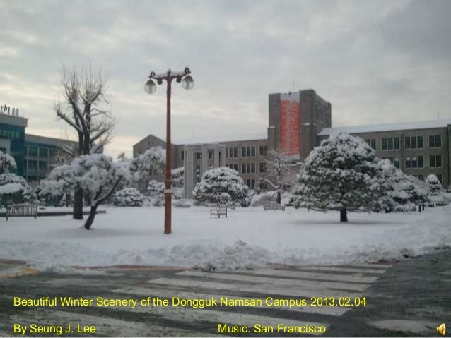 Beautiful Winter Scenery of the Dongguk Namsan Campus 2013.02.04By Seung J. Lee                      Music: San Francisco