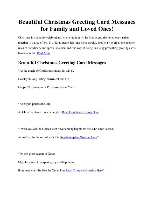 Beautiful christmas greeting card messages for family and loved ones complete greeting here 2 m4hsunfo Gallery
