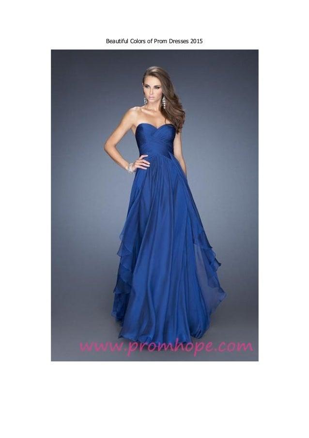 Colorful Formal Dresses