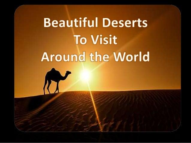 Beautiful Deserts to visit around the world