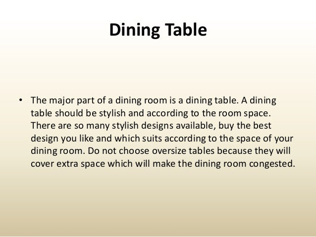 Beautiful Design Tips For The Dining Room Slide 3