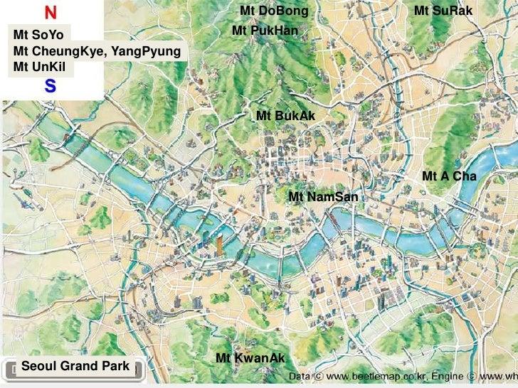 Mt DoBong<br />Mt SuRak<br />Mt PukHan<br />Mt SoYo<br />Mt CheungKye, YangPyung<br />Mt UnKil<br />Mt BukAk<br />Mt A Cha...