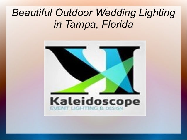 Beautiful Outdoor Wedding Lighting in Tampa, Florida