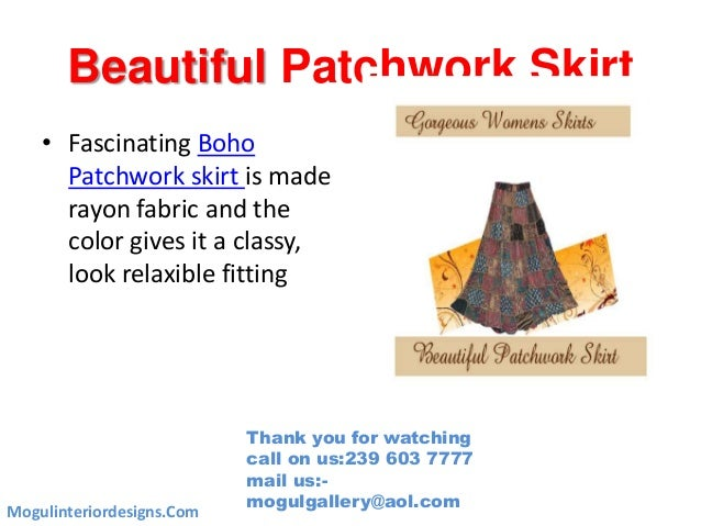 Beautiful Patchwork Skirt • Fascinating Boho Patchwork skirt is made rayon fabric and the color gives it a classy, look re...