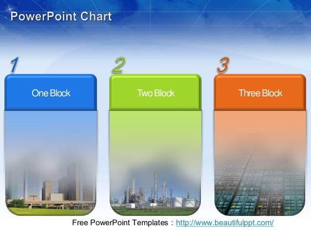 One Block                    Two Block                  Three Block            Free PowerPoint Templates:http://www.beauti...