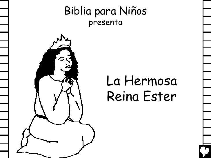 Beautiful queen esther spanish cb