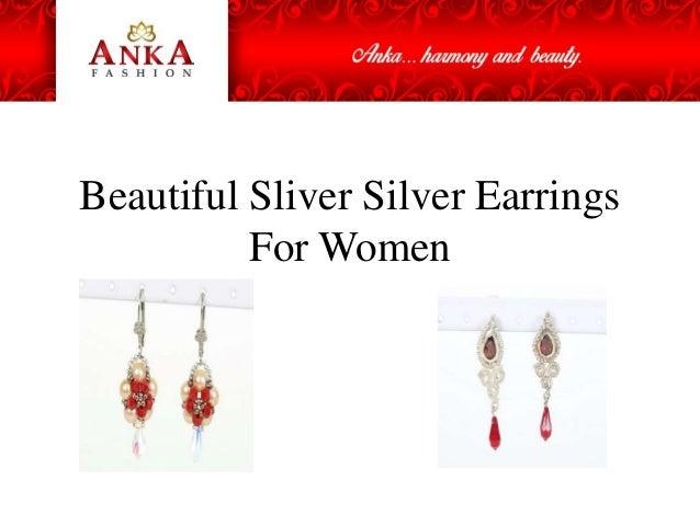 Beautiful Sliver Silver Earrings For Women