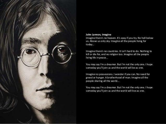 John Lennon Imagine Theres