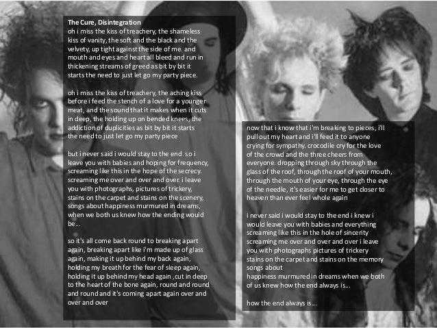 The Cure Pictures Of You Lyrics - Lyrics Center
