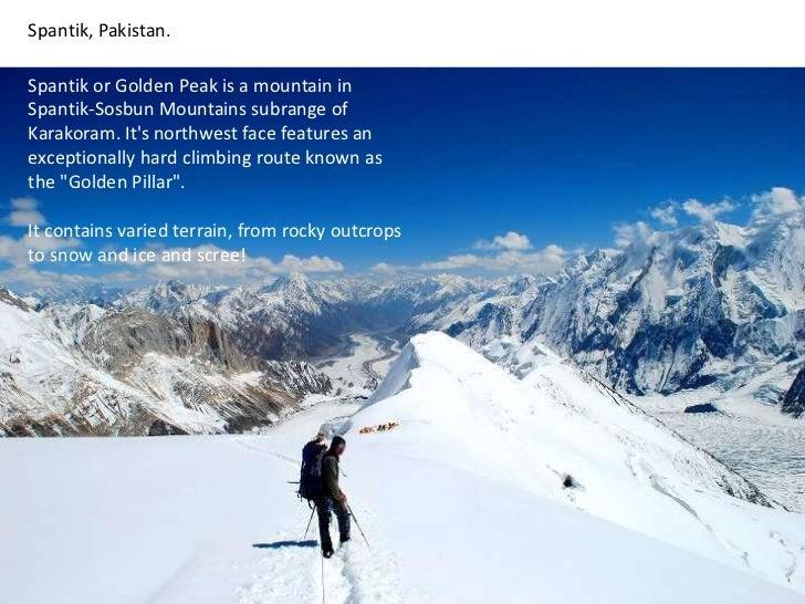 Spantik, Pakistan. <br />Spantik or Golden Peak is a mountain in Spantik-Sosbun Mountains subrange of Karakoram. It's nort...