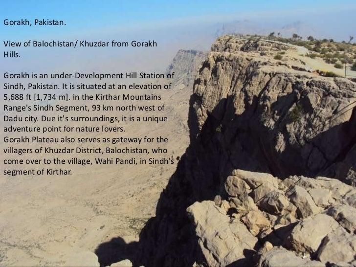Gorakh, Pakistan. View of Balochistan/ Khuzdar from Gorakh Hills. Gorakh is an under-Development Hill Station of Sindh, Pa...