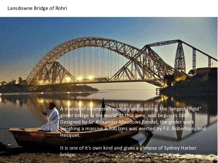 "Lansdowne Bridge of Rohri<br />A marvel of nineteenth century engineering, the 'longest ""rigid"" girder bridge in the world..."