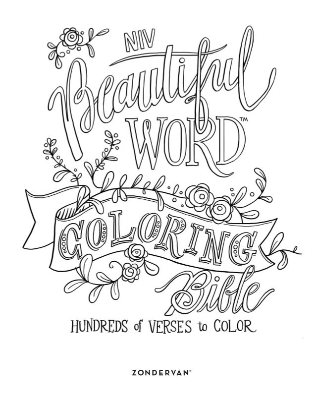 Word coloring pages 9780310445579 int 00 fm niv bw coloring final indd 1 5 13 16 259 pm 9780310445579 int 01 gen deut niv bw coloring final indd