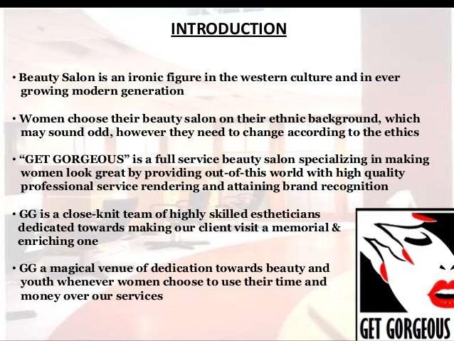 Beauty parlour business plan ppt