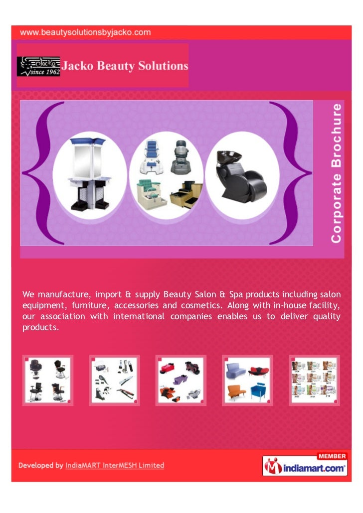 We manufacture, import & supply Beauty Salon & Spa products including salonequipment, furniture, accessories and cosmetics...