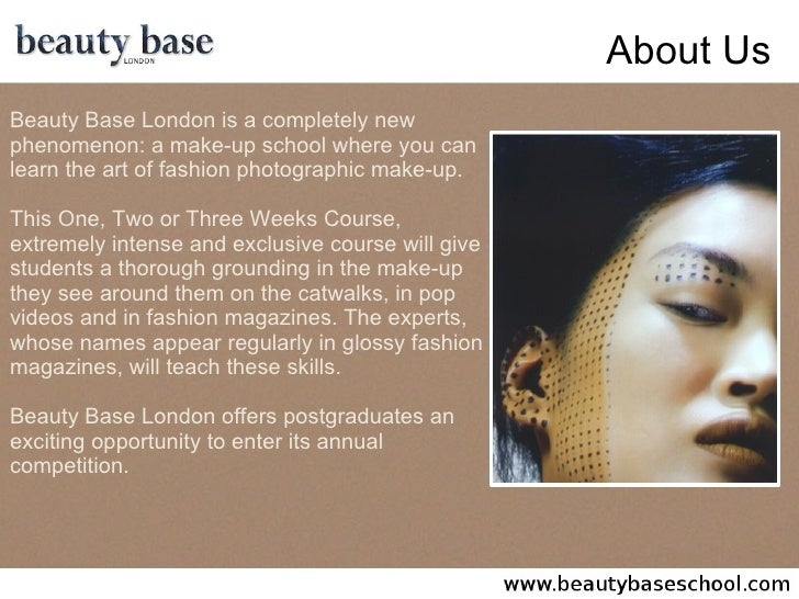 Beauty Base London - Fashion Makeup School, Photographic Make Up Course, Make-Up Artist Courses, Training Classes & Cosmetic Schools