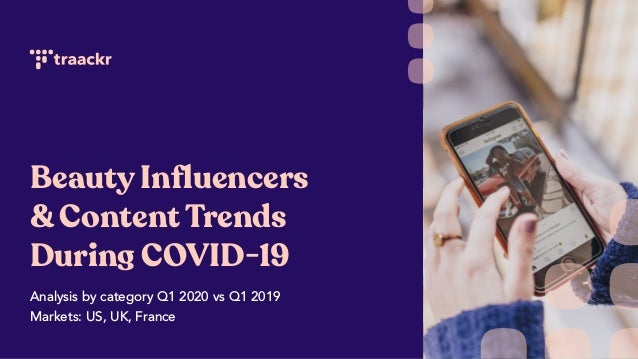 Beauty Influencers & Content Trends During COVID-19 Analysis by category Q1 2020 vs Q1 2019 Markets: US, UK, France