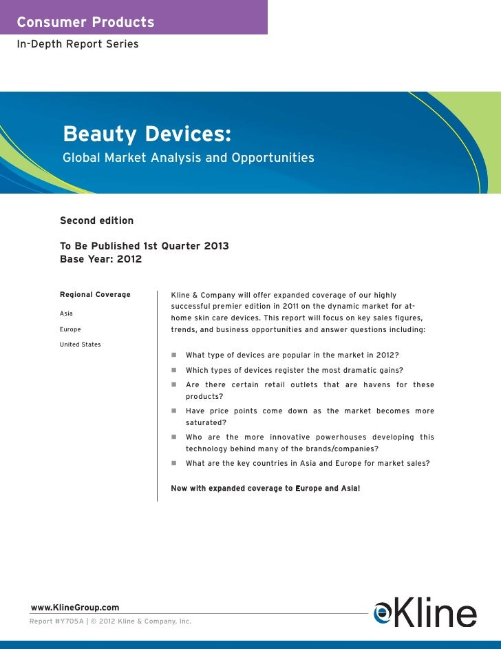 Consumer ProductsIn-Depth Report Series          Beauty Devices:          Global Market Analysis and Opportunities        ...
