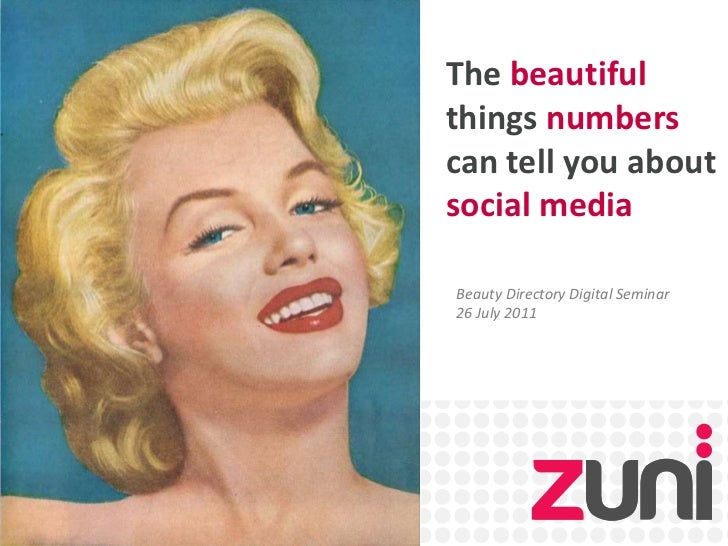 The beautiful things numbers can tell you about social media<br />Beauty Directory Digital Seminar<br />26 July 2011<br />