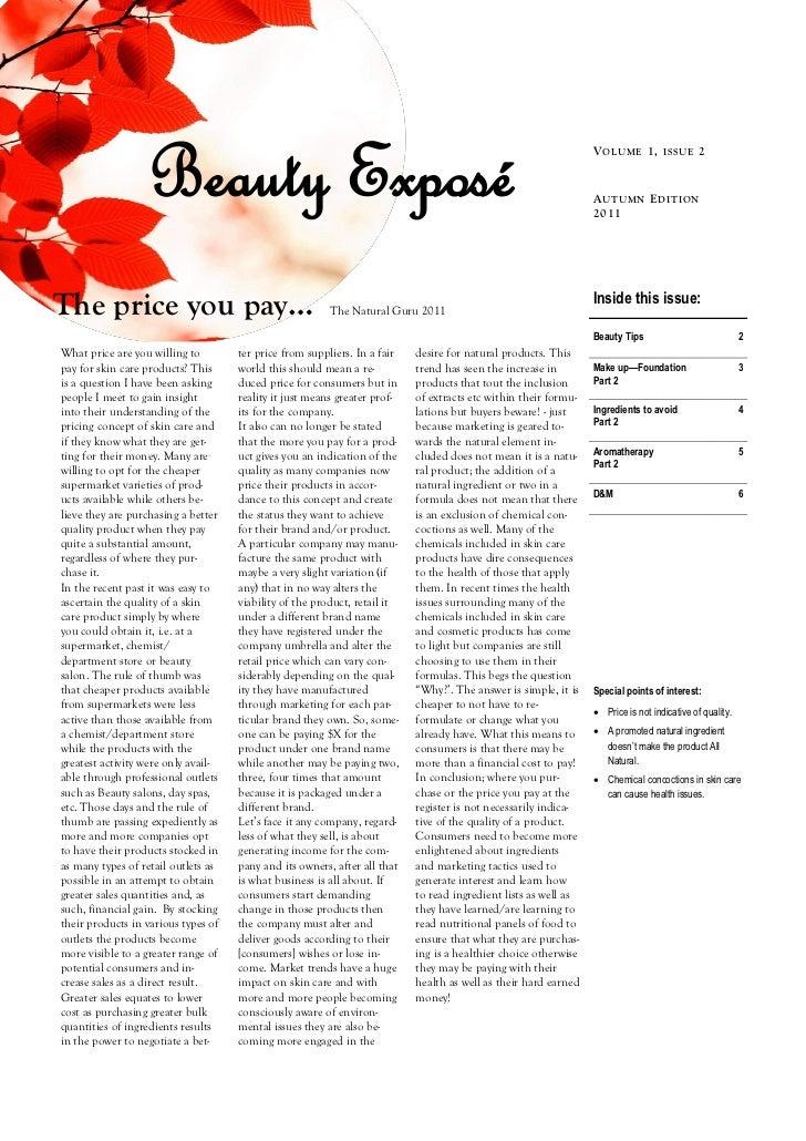 Beauty Exposé                                                                                 V OL U ME 1, ISSU E 2       ...