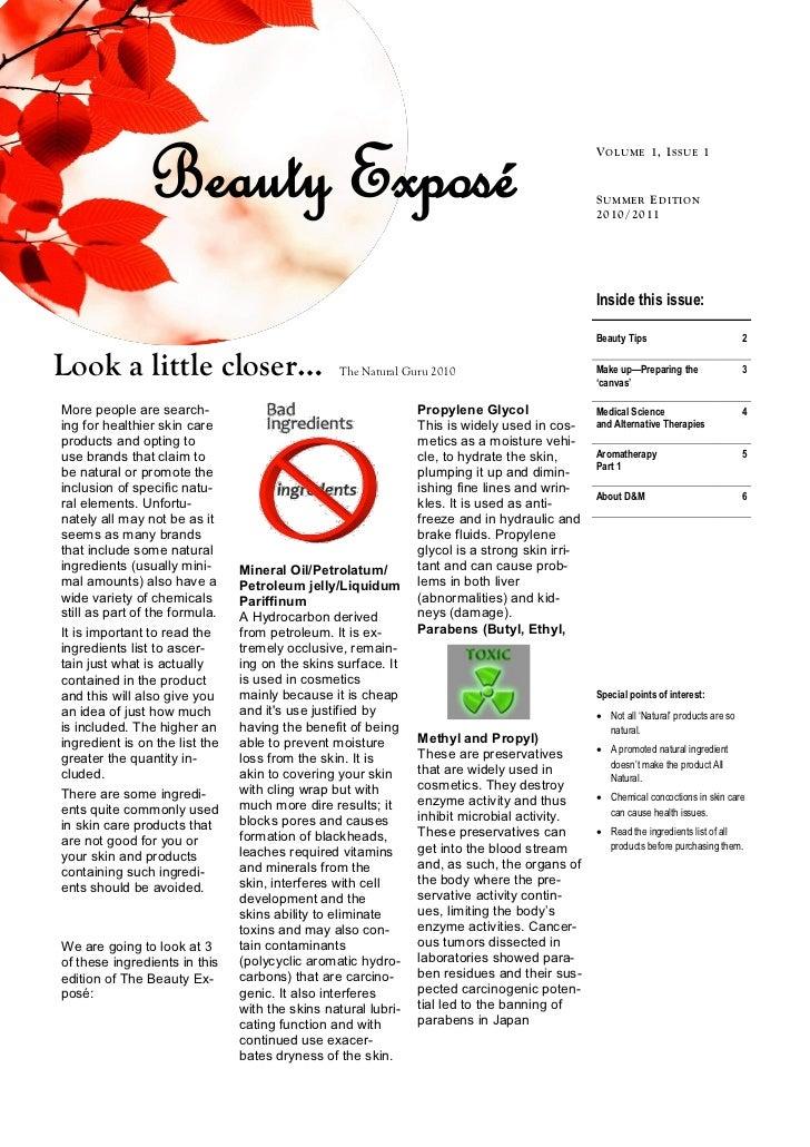 Beauty Exposé                                                                   V OL U ME 1, I SSU E 1                    ...