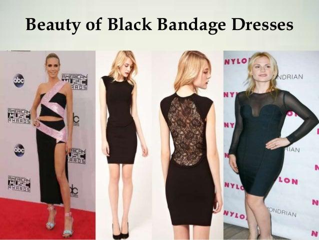 Beauty of Black Bandage Dresses