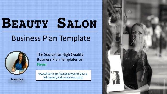 Beauty salon business plan template for A beauty salon business plan