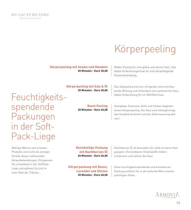 Die Kunst der                                      Körperbehandlungen       Programme Fonctionnel          Flexible und fu...