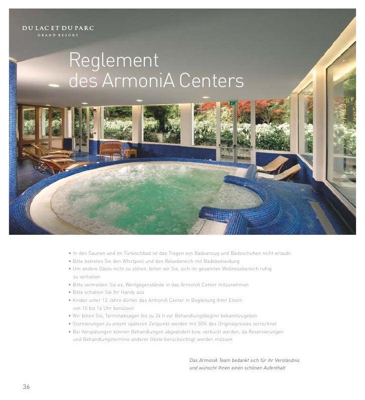 2012/1     Tel. ArmoniA +39 0464 566.755          Interne Nummer 755      armonia@dulacetduparc.com            Viale Rover...